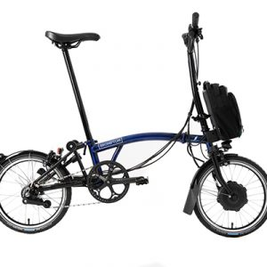 brompton electric h type bolt blue lacquer alt1