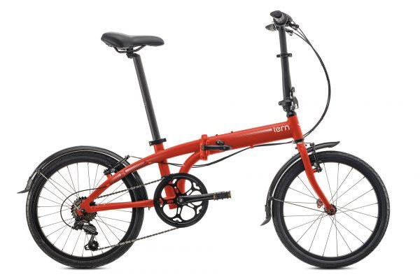 Bicicleta plegable roja Tern sin transportin