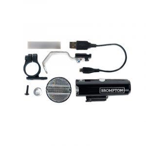 Luz delantera USB para bicicletas Brompton