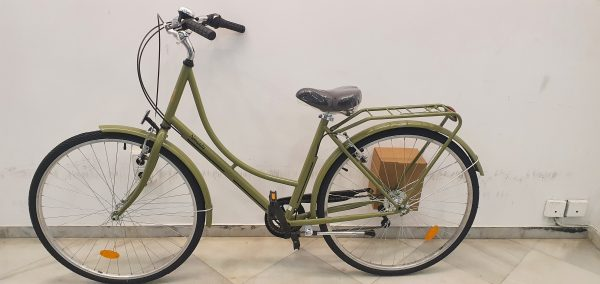 Bicicleta paseo holandesa verde agua