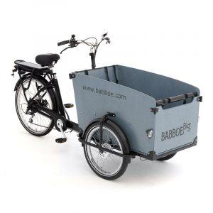 Bicicleta carga Babboe Big electrica caja gris
