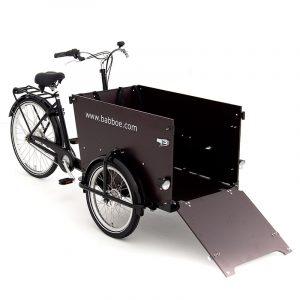 Bicicleta-Babboe-cargo-dog-marron-oscuro