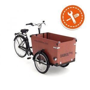 Bicicleta-carga-Babboe-dog-caja-madera