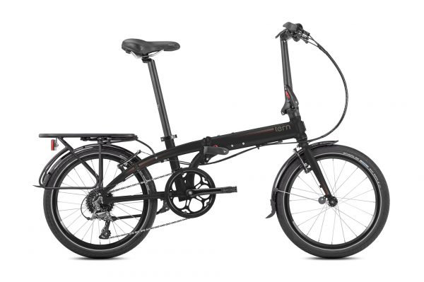 Bicicleta plegable Tern Link D8 negra